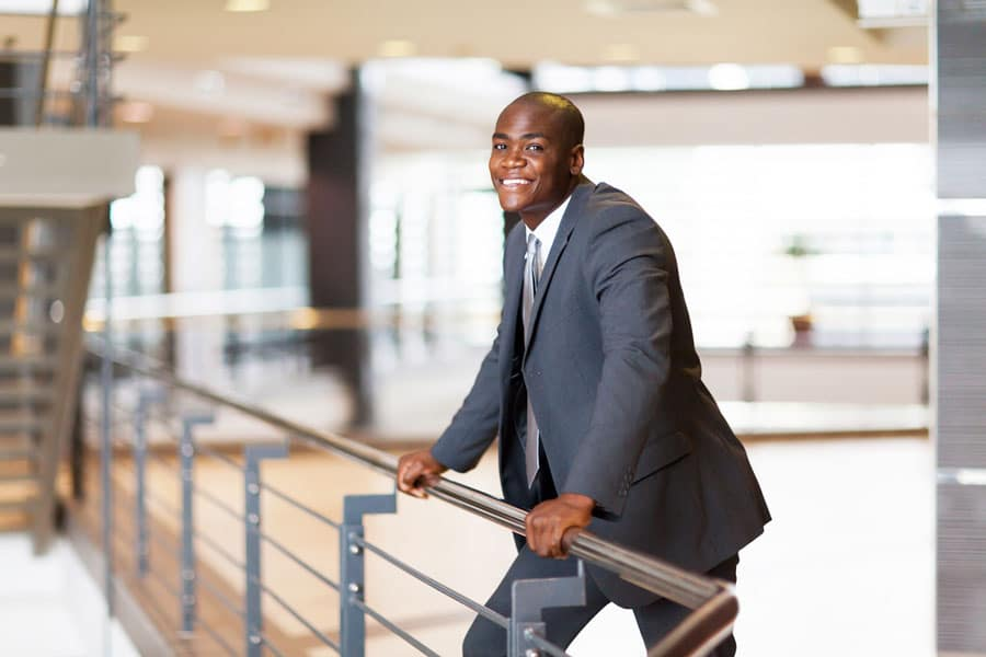 African-American-Businessman-in-Office-Building