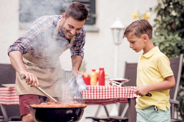 Father-Son-Backyard-BBQ