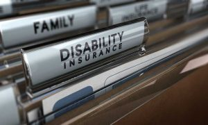 Disability Insurance file tab in file cabinet
